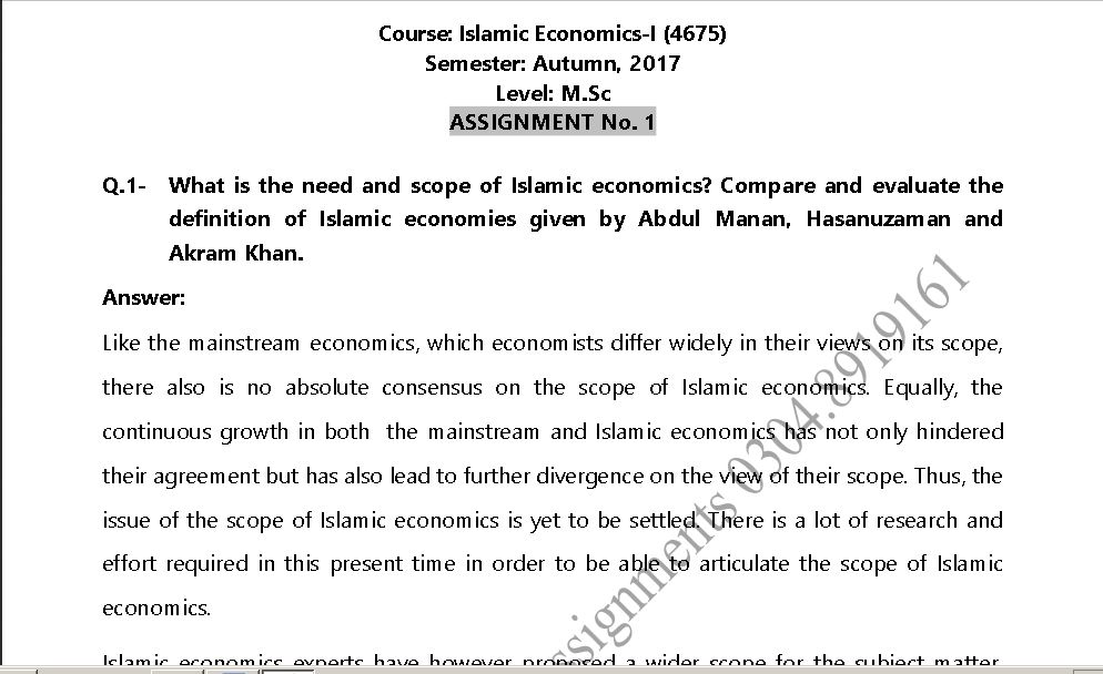 economics solved assignment Amity ba economics solved assignment for micro economics.